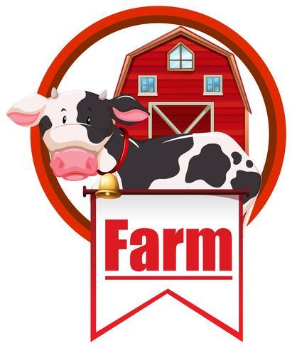 Mucca e fattoria vettore