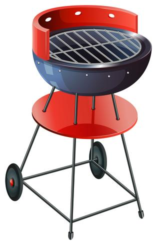A round barbeque grill vector