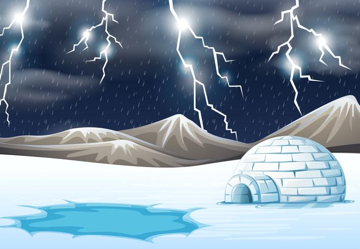Regenachtige nacht in de winter