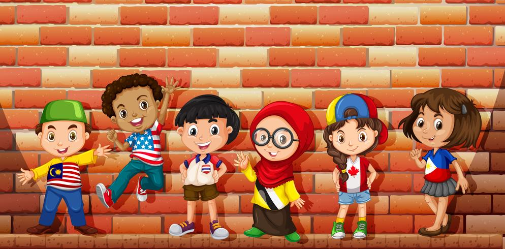 Niños de diferentes países.