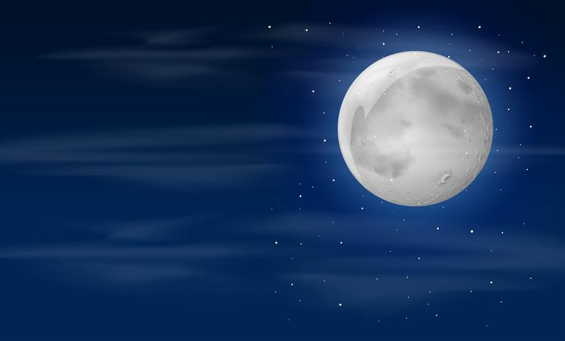 Cielo notturno con la luna