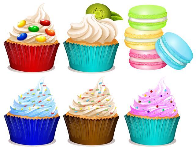 Unterschiedlicher Geschmack von Cupcakes