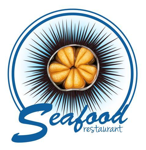 Maten på havet urchin mat på vit