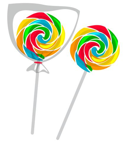Colorful lollipop on white background