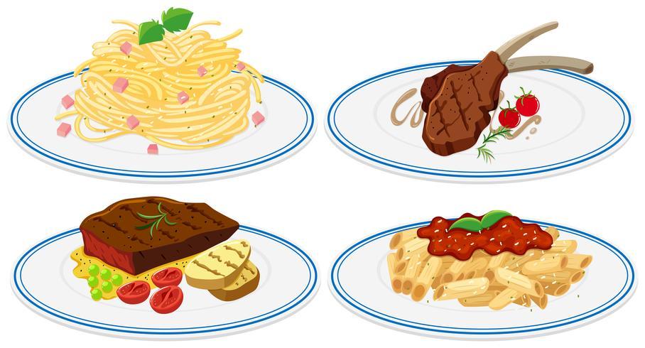 Cibo diverso sul piatto
