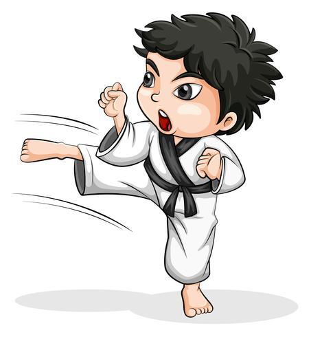 Un joueur de taekwondo asiatique