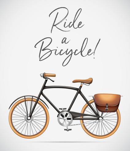 ride a bicycle scene vector