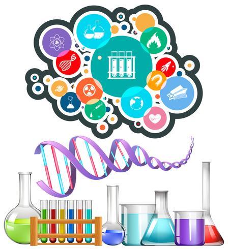Equipamentos e ícones da ciência