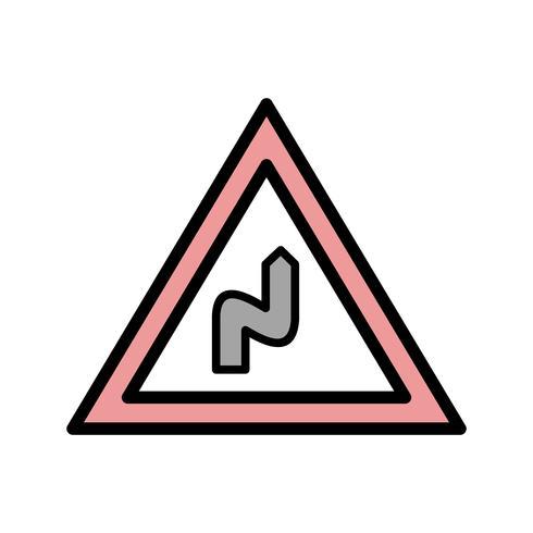 Vector doble curva a la derecha icono
