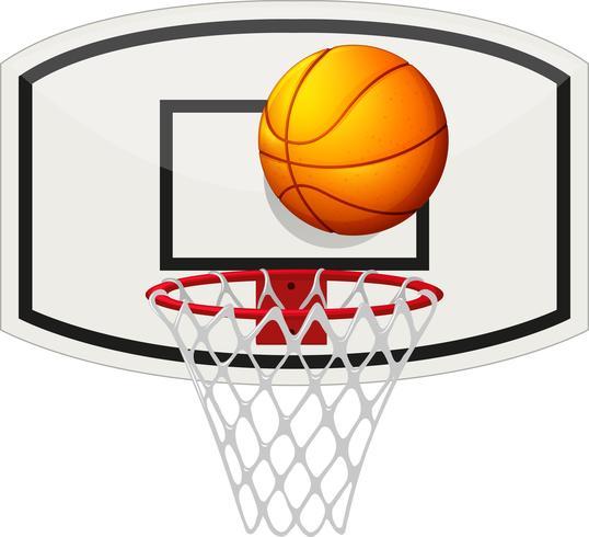 Basketballnetz und Ball