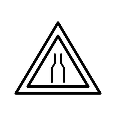 Vektorfahrbahn schmale Ikone