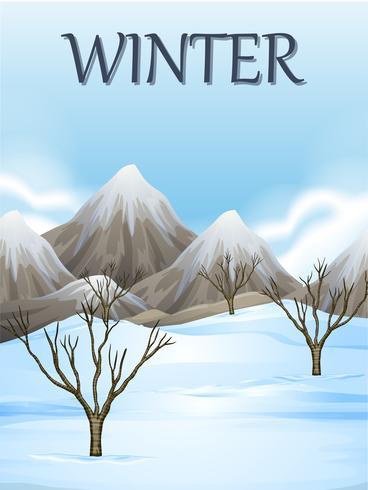Aardscène in de winter