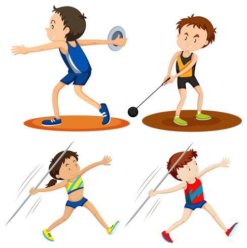 Pessoas que fazem esportes de atletismo
