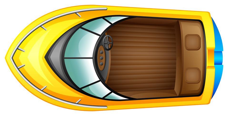 Eine Draufsicht auf ein Boot