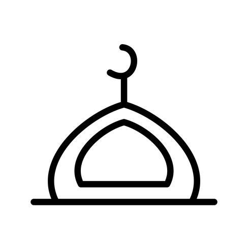 Moschee-Vektor-Symbol