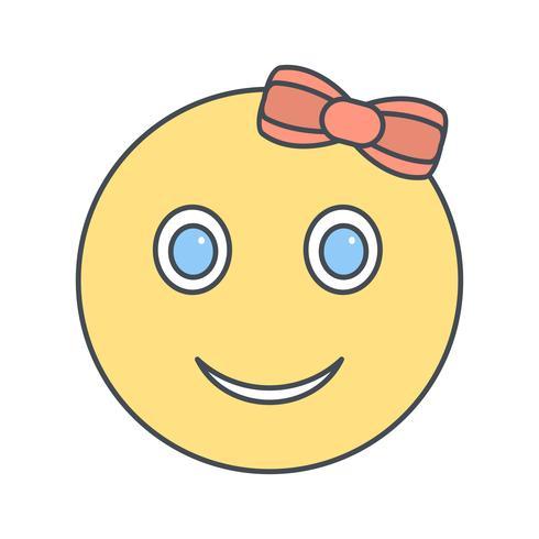 Icono de Vector de chica Emoji