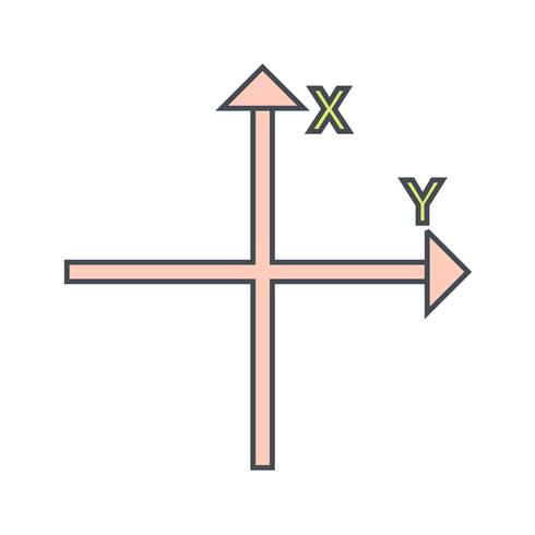 Achsen-Vektor-Symbol