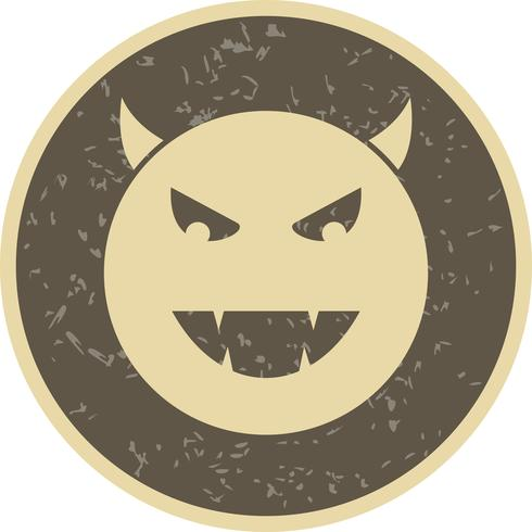 Devil Emoji Vector Icon