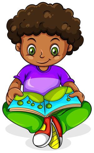 Una joven negra leyendo