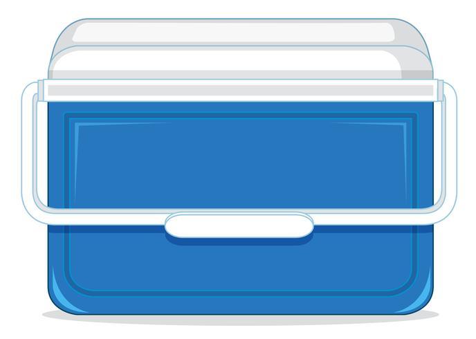 Ein Eisbehälter aus Kunststoff