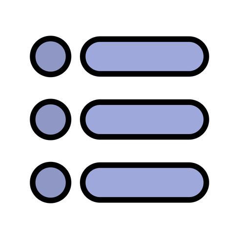 Lista Vektor Ikon