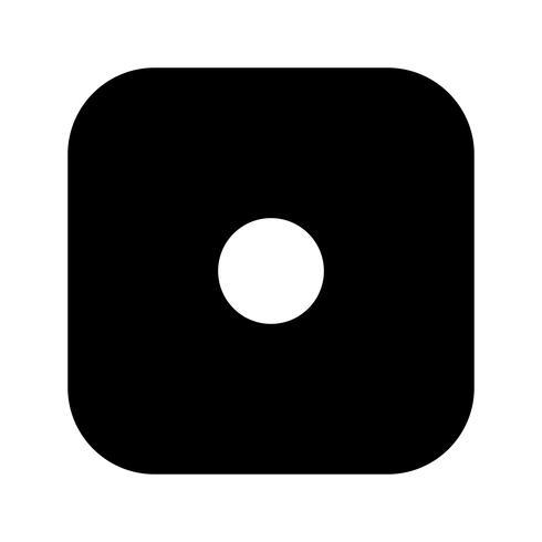 Würfel eine Vektor-Ikone