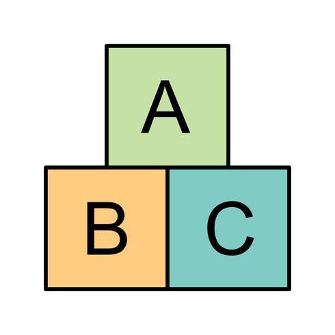 Icona di vettore dei cubi di ABC