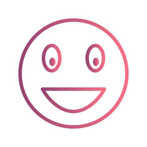 Lachende Emoji-Vektor-Ikone