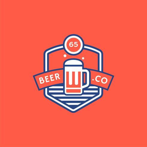 Bier Retro Abzeichen