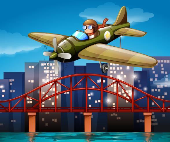 Piloto y avion