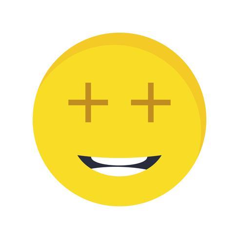 Positive Emoji-Vektor-Ikone