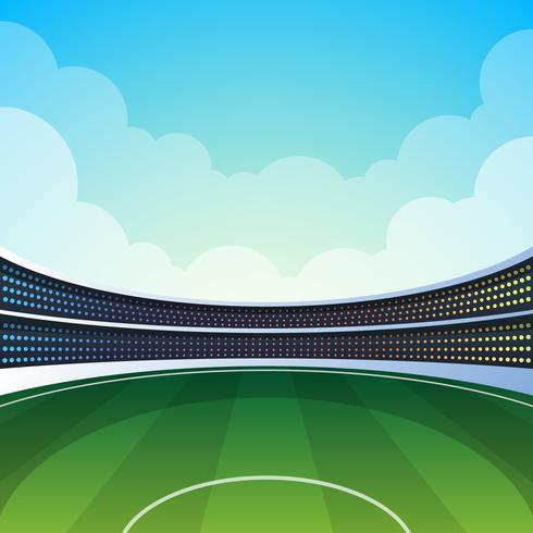 Cricket Stadium Illustration vector