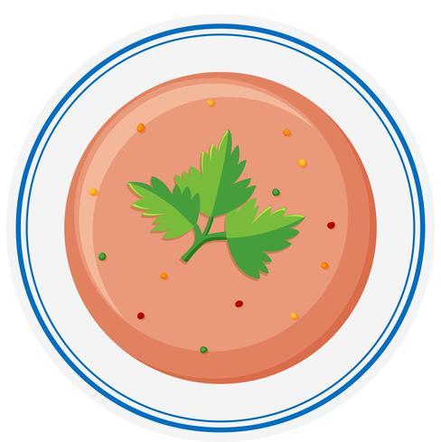 Grönsaksoppa i skål