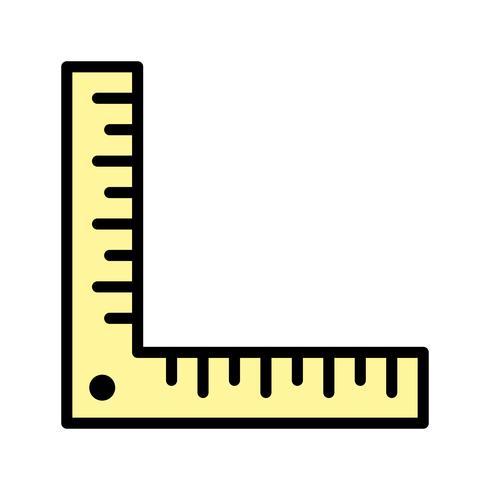 Winkellineal-Vektor-Symbol