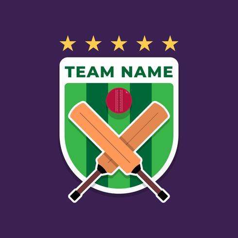 Cricket Shield Badge Logo van de Sports Club