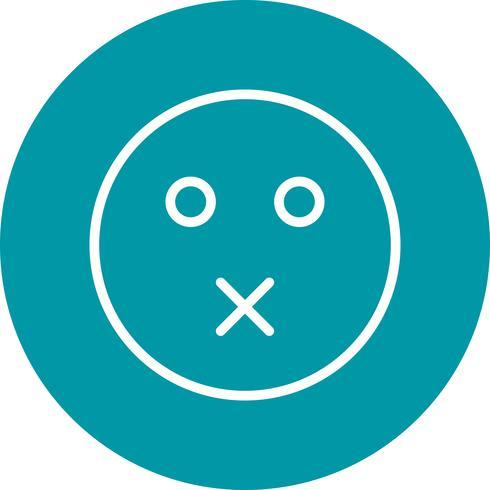 Stumme Emoji-Vektor-Ikone