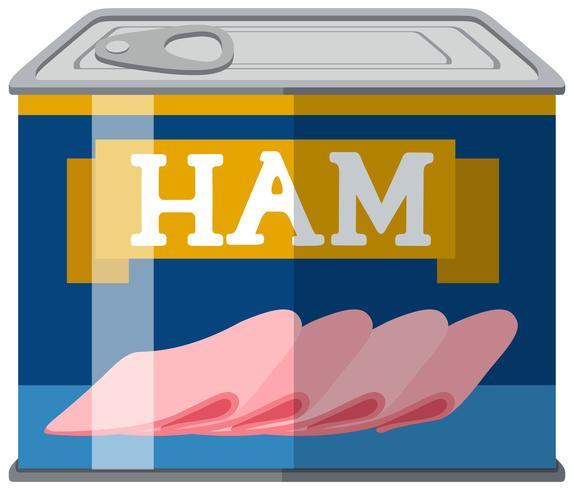 Lonchas de jamón en aluminio