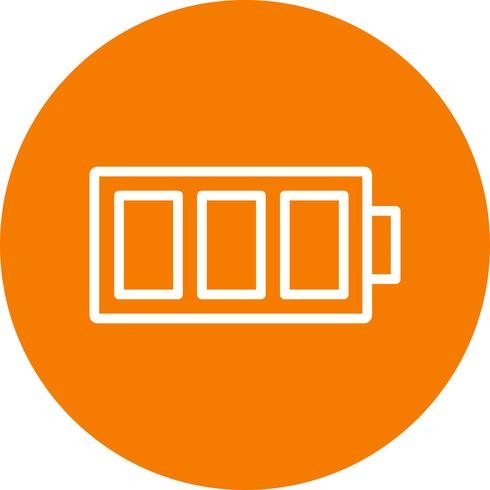 Ícone de vetor de bateria cheia