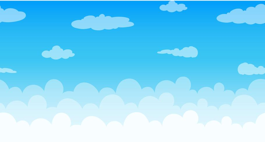 Seamless clouds floating in the sky vector