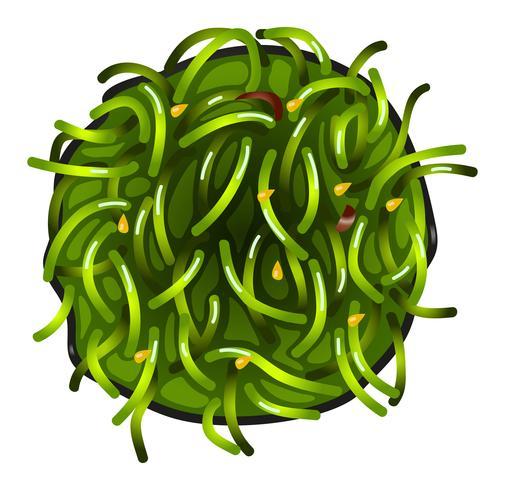 Ein Topview eines Gemüsesushi