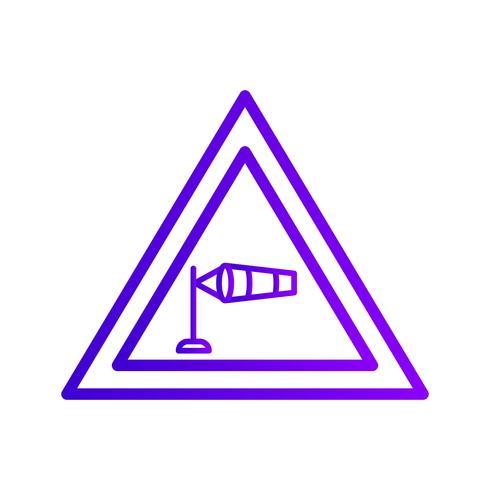 Vector Sterk dwarswindpictogram