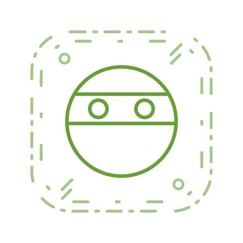 ninja emoji vektorikonen