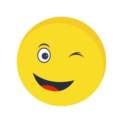 Wink Emoji Vector Icon