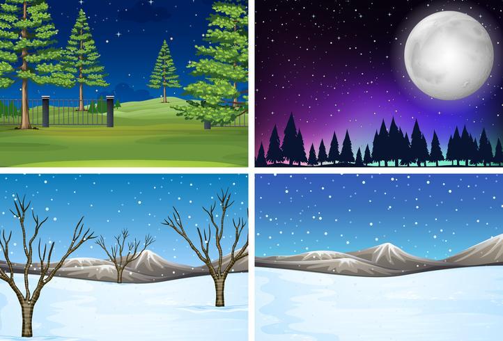 Set di scena paesaggio naturale