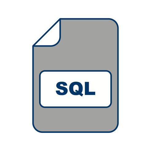 Icona di vettore SQL