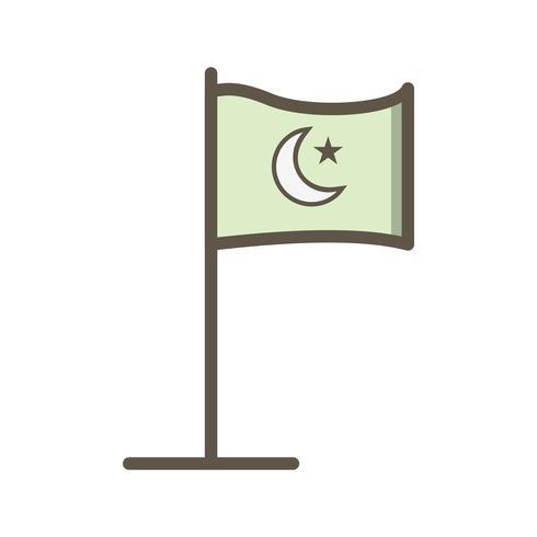 Islamic Flag Vector Icon