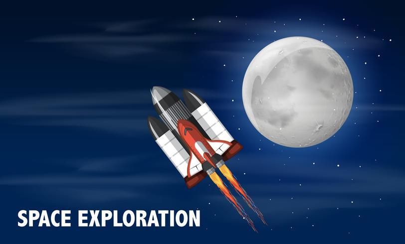 Un transbordador espacial lanzado