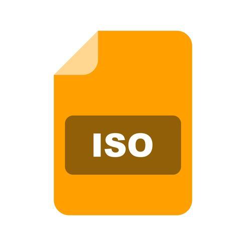 Icona di vettore ISO