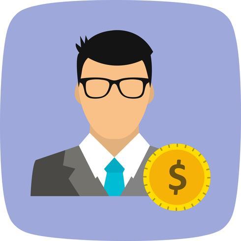 Dólar con el icono de Vector de hombre