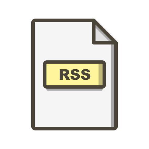 RSS ícone de vetor